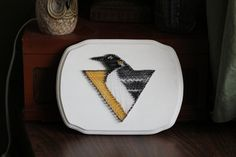 Pittsburgh Penguins 8x11 String Art Design by GrofDesigns on Etsy, $29.00 #pens #penguins #pittsburgh #hockey