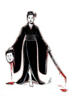 """O-Ren Ishii - """"Kill Bill"""" Original Artwork"""