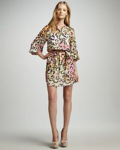 768fedbaabd Park West Printed Shirtdress by Trina Turk at Neiman Marcus. Daytime  Dresses
