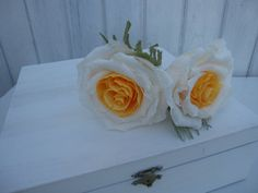 2 pcs crepe paper flowers wedding table by moniaflowers on Etsy