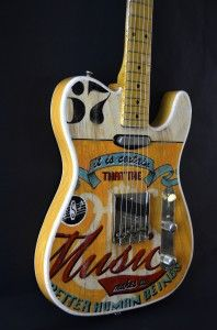 """Fender Telecaster """"Music"""" hand painted by Miriam Paternoster"""