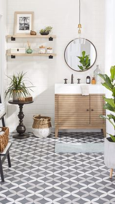Create a bathroom you love with gorgeous bathroom decor from Overstock. From shelves to plant stands, we have a variety of beautiful accents that are sure to enhance the look and feel of your bathroom. Shop now to save big on your bathroom transformation.  #bathroom #bathroomideas #bathroomdecor
