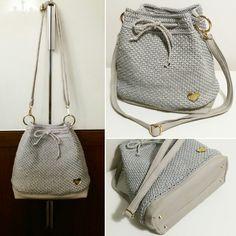 12-Bag a sacco grigio perla