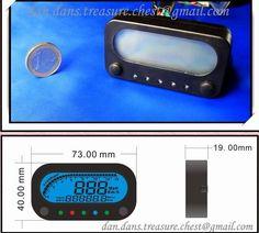 small rectangle motorcycle gauges Blue LED Digital