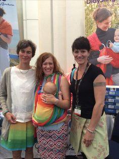 International Babywearing Conference July 2016 in Atlanta. Baby Wrap Sling Lisca White Rainbow