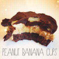 Peanut Banana Cups