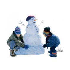 tubes noel enfants ❤ liked on Polyvore featuring christmas, winter, snow, people and snowmen