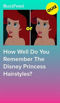 Princess Quizzes, Disney Princess Quiz, Disney Princesses, Disney Hairstyles, Disney Princess Hairstyles, Quizzes For Fun, Disney Ducktales, Trivia Quiz, Disney Frozen Elsa