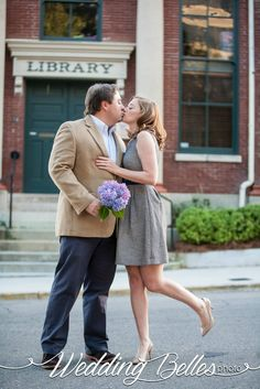 Downtown Tallahassee, Library Engagement Session with Wedding Belles Photo of Tallahassee