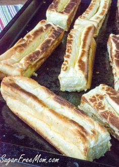 Cloud Bread Low Carb Hot dog Rolls, gluten free, keto- sugarfreemom.com