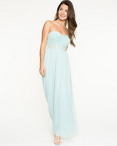 Sparkle Knit Strapless Gown