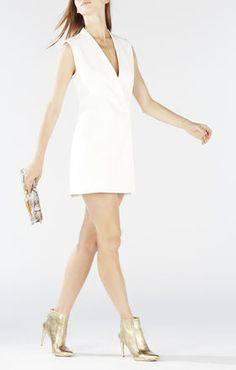 Caryn wrap vest dress