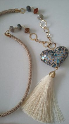 Cord and tassel broken up by beads