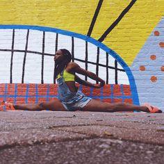 Black yoga, yoga inspiration, nike women,yoga, black girl magic, black girl yoga, melanin, black models, black fitness, nike, just do it, ebony fitness, nike yoga, black girls rock, black yogis,  Today I Get Stronger, nike training, yoga photography, yoga for athletes