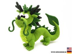 Crochet Tutorials – Dragon Long crochet pattern amigurumi – a unique product by Dinegurumi on DaWanda