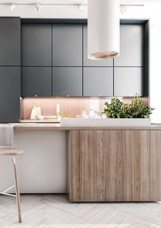 Modern Kitchen Design Essa cozinha foi valorizada pelo uso da iluminação indireta, apesar de contar com uma boa dose de luz natural - Best Kitchen Designs, Modern Kitchen Design, Interior Design Kitchen, Kitchen Decor, New Kitchen, Kitchen Ideas, Awesome Kitchen, Beautiful Kitchen, Farmhouse Style Kitchen