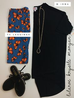 lularoe outfit • lularoe black irma • tall and curvy leggings • TC leggings • tunic • butterflies • spring 2017 • spring outfit for sale