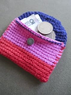 Sarita creative: Make it // Mini hold all (in Tunisian crochet)