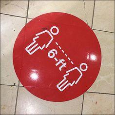 Macy's CoronaVirus Branded Floor Graphic Subtle Meaning, Floor Graphics, Retail Fixtures, Visual Merchandising, Neon Signs, Display, Flooring, Red, Color