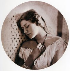 The Shakespearean actress Ellen Terry, photographed by Julia Margaret Cameron in 1864