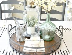 dining room makeover @homegoods tray