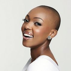 Keep your scalp healthy after your big chop so that you can grow the beautiful natural hair you were gifted with! Scalp Nourishing Serum heals and soothes your scalp using all natural essential oils, botanicals, and vitamins. Big Chop, My Hairstyle, Cool Hairstyles, Hairdos, Hairstyle Ideas, Hair Ideas, Short Hair Cuts, Short Hair Styles, Bald Head Women