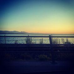 adrientambay Home sweet home tonight! Feels good!! #Sunset #BlueSky #Bregenz #Austria #Bodensee #LakeofConstance
