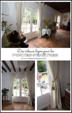 Des rideaux légers pour les portes-fenêtres