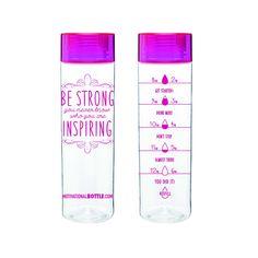 Pink Motivational Water Bottle
