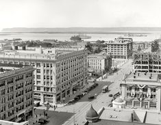 "San Diego, California, 1913. ""San Diego and bay from U.S. Grant Hotel."""