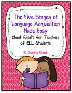 I hope this product is helpful and enables ESL teachers to avoid some awkward moments with those who do not understand their roles. It is my wish that classroom teachers will be more empowered by knowing the learning stages for their ELL babies.