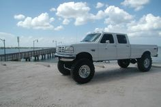My dream LIFTED truck 1992-1998 Ford F-350 crew cab long bed 7.3L diesel; the ultimate in trucks!