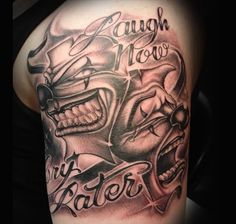 gangsta+tattoo+ideas+for+men | Gangster Clown Tattoo Design