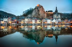 Dinant, a Walloon city and municipality located on the River Meuse in the Belgian province of Namur, Belgium. It is around 90 km south-east ...