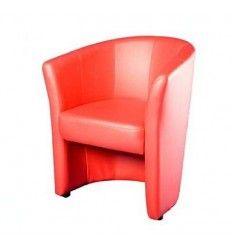 Fauteuil cuir simili coloris rouge