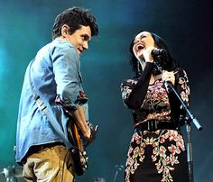 "John Mayer brought Katy Perry out to perform ""Who You Love"" at his Brooklyn concert. Such a sweet onstage moment!"