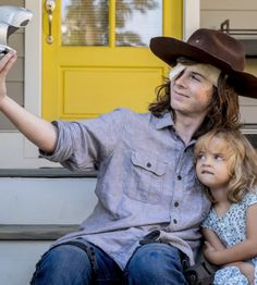 """Carl and Judith Grimes in The Walking Dead Season 8 Episode 9 