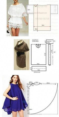 I quite like this superb photo Tunic Sewing Patterns, Sewing Blouses, Blouse Patterns, Clothing Patterns, Blouse Designs, Fashion Sewing, Diy Fashion, Ideias Fashion, Fashion Clothes