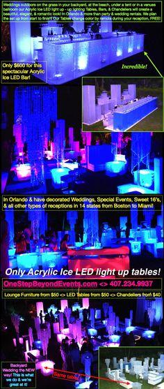 92 best led beach lighting downlighting rentals orlando all rh pinterest com