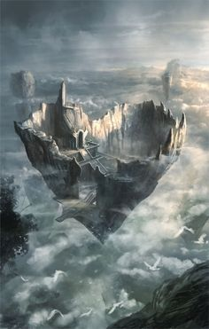 As de corazones por Gerezon  GiGi's Lair Between the Realms  As we soared higher, I noticed a familiar house up there in the clouds