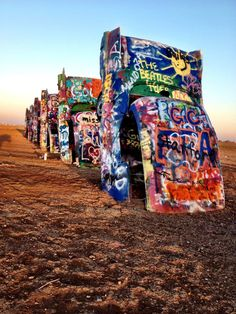 Cadillac Ranch. Roadside attraction in Texas.         Been there, done that!