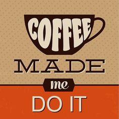 Coffee Quotes, Coffee Humor, Funny Coffee, I Love Coffee, Best Coffee, Canvas Wall Art, Wall Art Prints, Canvas Prints, Coffee Cups