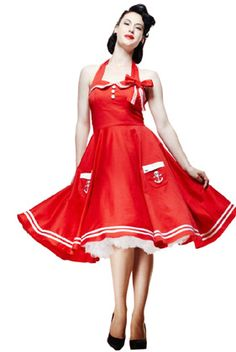 Red fifties style dress
