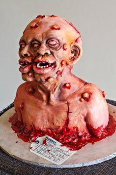 Eeeeewwww!  pretty amazing though! Horror monster cakes  #horror #cake #halloween