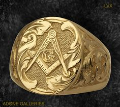 Freemasons.   I NEED this ring.  I would love to have this one as well--very classy and classic.