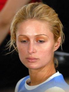Paris Hilton -- I think she totally looks better without all that makeup. love the freckles!