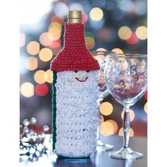 Gnome for the Holidays Wine Bottle Cozy