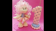 Boneca Topinho sem molde e Vela em Biscuit -