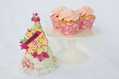 Pink & Yellow Floral Cupcake Wrappers