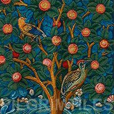 William Morris Wood Pecker Detail